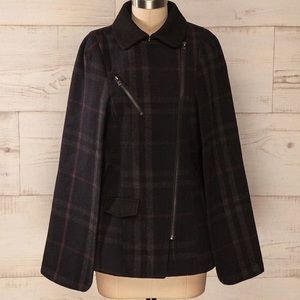 ONLY Pinar Checked Wool Cape